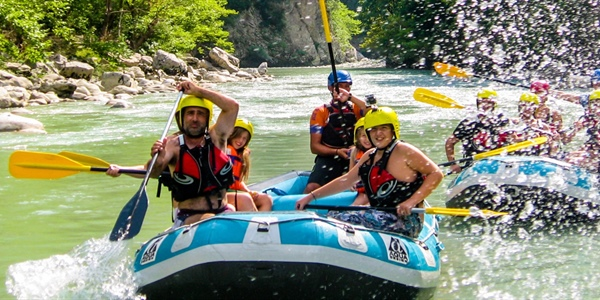 Rafting in Arachthos in Tzoumerka area, Greece