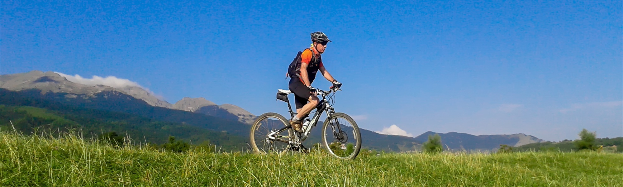Mountain bike in Pindos mountains, Thessaly