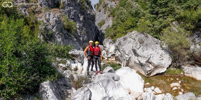 Recent photos from our canyoning activity in Kleftis gorge!