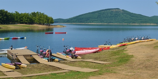 Water bike at Plastira Lake, Thessaly
