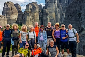 Hiking in magnificent Meteora